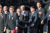 March Past, Remembrance Sunday at the Cenotaph 2016: E41 HMS Penelope Association. Cenotaph, Whitehall, London SW1, London, Greater London, United Kingdom, on 13 November 2016 at 13:08, image #2019