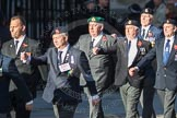 March Past, Remembrance Sunday at the Cenotaph 2016: E41 HMS Penelope Association. Cenotaph, Whitehall, London SW1, London, Greater London, United Kingdom, on 13 November 2016 at 13:08, image #2023