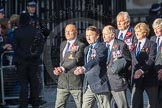 March Past, Remembrance Sunday at the Cenotaph 2016: E43 ROYAL NAVY PHYSICAL TRAINING BRANCH. Cenotaph, Whitehall, London SW1, London, Greater London, United Kingdom, on 13 November 2016 at 13:08, image #2035