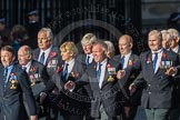 March Past, Remembrance Sunday at the Cenotaph 2016: E43 ROYAL NAVY PHYSICAL TRAINING BRANCH. Cenotaph, Whitehall, London SW1, London, Greater London, United Kingdom, on 13 November 2016 at 13:08, image #2040