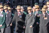 March Past, Remembrance Sunday at the Cenotaph 2016: F02 GURKHA BRIGADE ASSOCIATION TRUST. Cenotaph, Whitehall, London SW1, London, Greater London, United Kingdom, on 13 November 2016 at 13:08, image #2051
