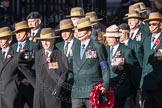 March Past, Remembrance Sunday at the Cenotaph 2016: F02 GURKHA BRIGADE ASSOCIATION TRUST. Cenotaph, Whitehall, London SW1, London, Greater London, United Kingdom, on 13 November 2016 at 13:08, image #2054