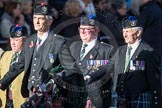 March Past, Remembrance Sunday at the Cenotaph 2016: F04 Queen's Own Highlanders Regimental Association. Cenotaph, Whitehall, London SW1, London, Greater London, United Kingdom, on 13 November 2016 at 13:09, image #2140