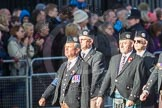 March Past, Remembrance Sunday at the Cenotaph 2016: F05 London Scottish Regimental Association. Cenotaph, Whitehall, London SW1, London, Greater London, United Kingdom, on 13 November 2016 at 13:10, image #2142