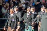 March Past, Remembrance Sunday at the Cenotaph 2016: F05 London Scottish Regimental Association. Cenotaph, Whitehall, London SW1, London, Greater London, United Kingdom, on 13 November 2016 at 13:10, image #2143