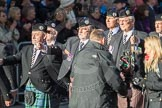 March Past, Remembrance Sunday at the Cenotaph 2016: F05 London Scottish Regimental Association. Cenotaph, Whitehall, London SW1, London, Greater London, United Kingdom, on 13 November 2016 at 13:10, image #2145