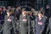 March Past, Remembrance Sunday at the Cenotaph 2016: F08 Queen's Bodyguard of The Yeoman of The Guard. Cenotaph, Whitehall, London SW1, London, Greater London, United Kingdom, on 13 November 2016 at 13:10, image #2167
