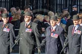 March Past, Remembrance Sunday at the Cenotaph 2016: F08 Queen's Bodyguard of The Yeoman of The Guard. Cenotaph, Whitehall, London SW1, London, Greater London, United Kingdom, on 13 November 2016 at 13:10, image #2168