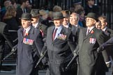 March Past, Remembrance Sunday at the Cenotaph 2016: F08 Queen's Bodyguard of The Yeoman of The Guard. Cenotaph, Whitehall, London SW1, London, Greater London, United Kingdom, on 13 November 2016 at 13:10, image #2170
