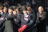 March Past, Remembrance Sunday at the Cenotaph 2016: F08 Queen's Bodyguard of The Yeoman of The Guard. Cenotaph, Whitehall, London SW1, London, Greater London, United Kingdom, on 13 November 2016 at 13:10, image #2173
