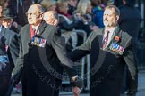 March Past, Remembrance Sunday at the Cenotaph 2016: F09 Officers Association. Cenotaph, Whitehall, London SW1, London, Greater London, United Kingdom, on 13 November 2016 at 13:10, image #2176