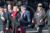 March Past, Remembrance Sunday at the Cenotaph 2016: F12 Gallantry Medallists League. Cenotaph, Whitehall, London SW1, London, Greater London, United Kingdom, on 13 November 2016 at 13:10, image #2188