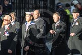 March Past, Remembrance Sunday at the Cenotaph 2016: F12 Gallantry Medallists League. Cenotaph, Whitehall, London SW1, London, Greater London, United Kingdom, on 13 November 2016 at 13:10, image #2208