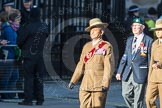 March Past, Remembrance Sunday at the Cenotaph 2016: F13 National Malayan & Borneo Veterans Association. Cenotaph, Whitehall, London SW1, London, Greater London, United Kingdom, on 13 November 2016 at 13:10, image #2211