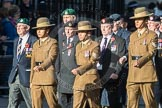 March Past, Remembrance Sunday at the Cenotaph 2016: F13 National Malayan & Borneo Veterans Association. Cenotaph, Whitehall, London SW1, London, Greater London, United Kingdom, on 13 November 2016 at 13:10, image #2215