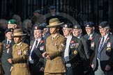March Past, Remembrance Sunday at the Cenotaph 2016: F13 National Malayan & Borneo Veterans Association. Cenotaph, Whitehall, London SW1, London, Greater London, United Kingdom, on 13 November 2016 at 13:10, image #2219