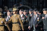 March Past, Remembrance Sunday at the Cenotaph 2016: F13 National Malayan & Borneo Veterans Association. Cenotaph, Whitehall, London SW1, London, Greater London, United Kingdom, on 13 November 2016 at 13:10, image #2220