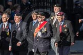 March Past, Remembrance Sunday at the Cenotaph 2016: F17 Suez Veterans Association. Cenotaph, Whitehall, London SW1, London, Greater London, United Kingdom, on 13 November 2016 at 13:11, image #2281