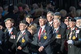 March Past, Remembrance Sunday at the Cenotaph 2016: F18 Aden Veterans Association. Cenotaph, Whitehall, London SW1, London, Greater London, United Kingdom, on 13 November 2016 at 13:11, image #2297