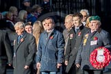 March Past, Remembrance Sunday at the Cenotaph 2016: F19 Showmens' Guild of Great Britain. Cenotaph, Whitehall, London SW1, London, Greater London, United Kingdom, on 13 November 2016 at 13:11, image #2306