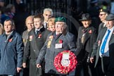 March Past, Remembrance Sunday at the Cenotaph 2016: F19 Showmens' Guild of Great Britain. Cenotaph, Whitehall, London SW1, London, Greater London, United Kingdom, on 13 November 2016 at 13:11, image #2307