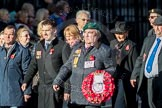 March Past, Remembrance Sunday at the Cenotaph 2016: F19 Showmens' Guild of Great Britain. Cenotaph, Whitehall, London SW1, London, Greater London, United Kingdom, on 13 November 2016 at 13:11, image #2308