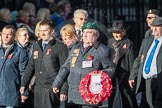 March Past, Remembrance Sunday at the Cenotaph 2016: F19 Showmens' Guild of Great Britain. Cenotaph, Whitehall, London SW1, London, Greater London, United Kingdom, on 13 November 2016 at 13:11, image #2309