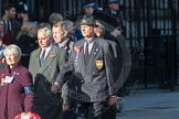 March Past, Remembrance Sunday at the Cenotaph 2016: M31 Romany & Traveller Society. Cenotaph, Whitehall, London SW1, London, Greater London, United Kingdom, on 13 November 2016 at 13:17, image #2780