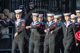 March Past, Remembrance Sunday at the Cenotaph 2016: M32 Army and combined Cadet Force. Cenotaph, Whitehall, London SW1, London, Greater London, United Kingdom, on 13 November 2016 at 13:17, image #2783