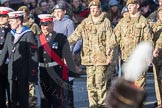 March Past, Remembrance Sunday at the Cenotaph 2016: M32 Army and combined Cadet Force. Cenotaph, Whitehall, London SW1, London, Greater London, United Kingdom, on 13 November 2016 at 13:17, image #2797