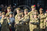 March Past, Remembrance Sunday at the Cenotaph 2016: M32 Army and combined Cadet Force. Cenotaph, Whitehall, London SW1, London, Greater London, United Kingdom, on 13 November 2016 at 13:18, image #2805