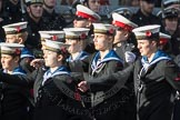 March Past, Remembrance Sunday at the Cenotaph 2016: M32 Army and combined Cadet Force. Cenotaph, Whitehall, London SW1, London, Greater London, United Kingdom, on 13 November 2016 at 13:18, image #2819