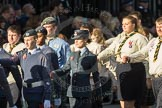 March Past, Remembrance Sunday at the Cenotaph 2016: M33 Scout Association. Cenotaph, Whitehall, London SW1, London, Greater London, United Kingdom, on 13 November 2016 at 13:18, image #2840