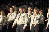 March Past, Remembrance Sunday at the Cenotaph 2016: M33 Scout Association. Cenotaph, Whitehall, London SW1, London, Greater London, United Kingdom, on 13 November 2016 at 13:18, image #2844