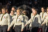 March Past, Remembrance Sunday at the Cenotaph 2016: M33 Scout Association. Cenotaph, Whitehall, London SW1, London, Greater London, United Kingdom, on 13 November 2016 at 13:18, image #2846