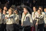 March Past, Remembrance Sunday at the Cenotaph 2016: M33 Scout Association. Cenotaph, Whitehall, London SW1, London, Greater London, United Kingdom, on 13 November 2016 at 13:18, image #2847