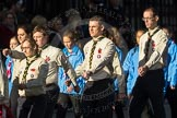 March Past, Remembrance Sunday at the Cenotaph 2016: M33 Scout Association. Cenotaph, Whitehall, London SW1, London, Greater London, United Kingdom, on 13 November 2016 at 13:18, image #2851