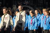 March Past, Remembrance Sunday at the Cenotaph 2016: M33 Scout Association. Cenotaph, Whitehall, London SW1, London, Greater London, United Kingdom, on 13 November 2016 at 13:18, image #2853