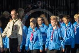 March Past, Remembrance Sunday at the Cenotaph 2016: M34 Girlguiding UK. Cenotaph, Whitehall, London SW1, London, Greater London, United Kingdom, on 13 November 2016 at 13:18, image #2854