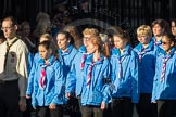 March Past, Remembrance Sunday at the Cenotaph 2016: M34 Girlguiding UK. Cenotaph, Whitehall, London SW1, London, Greater London, United Kingdom, on 13 November 2016 at 13:18, image #2855