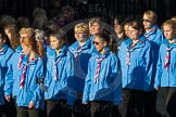 March Past, Remembrance Sunday at the Cenotaph 2016: M34 Girlguiding UK. Cenotaph, Whitehall, London SW1, London, Greater London, United Kingdom, on 13 November 2016 at 13:18, image #2856