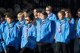 March Past, Remembrance Sunday at the Cenotaph 2016: M34 Girlguiding UK. Cenotaph, Whitehall, London SW1, London, Greater London, United Kingdom, on 13 November 2016 at 13:18, image #2857