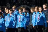March Past, Remembrance Sunday at the Cenotaph 2016: M34 Girlguiding UK. Cenotaph, Whitehall, London SW1, London, Greater London, United Kingdom, on 13 November 2016 at 13:18, image #2860