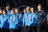 March Past, Remembrance Sunday at the Cenotaph 2016: M34 Girlguiding UK. Cenotaph, Whitehall, London SW1, London, Greater London, United Kingdom, on 13 November 2016 at 13:18, image #2861