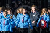 March Past, Remembrance Sunday at the Cenotaph 2016: M34 Girlguiding UK. Cenotaph, Whitehall, London SW1, London, Greater London, United Kingdom, on 13 November 2016 at 13:18, image #2862