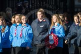 March Past, Remembrance Sunday at the Cenotaph 2016: M35 Girls Brigade England & Wales. Cenotaph, Whitehall, London SW1, London, Greater London, United Kingdom, on 13 November 2016 at 13:18, image #2863