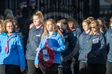March Past, Remembrance Sunday at the Cenotaph 2016: M35 Girls Brigade England & Wales. Cenotaph, Whitehall, London SW1, London, Greater London, United Kingdom, on 13 November 2016 at 13:18, image #2864