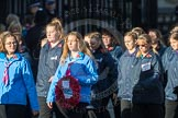 March Past, Remembrance Sunday at the Cenotaph 2016: M35 Girls Brigade England & Wales. Cenotaph, Whitehall, London SW1, London, Greater London, United Kingdom, on 13 November 2016 at 13:18, image #2865