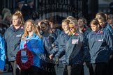 March Past, Remembrance Sunday at the Cenotaph 2016: M35 Girls Brigade England & Wales. Cenotaph, Whitehall, London SW1, London, Greater London, United Kingdom, on 13 November 2016 at 13:18, image #2866