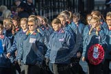 March Past, Remembrance Sunday at the Cenotaph 2016: M35 Girls Brigade England & Wales. Cenotaph, Whitehall, London SW1, London, Greater London, United Kingdom, on 13 November 2016 at 13:18, image #2868